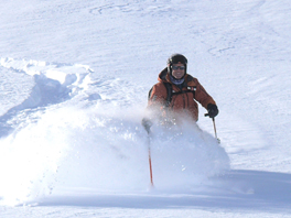 Henry skiing Off-Piste
